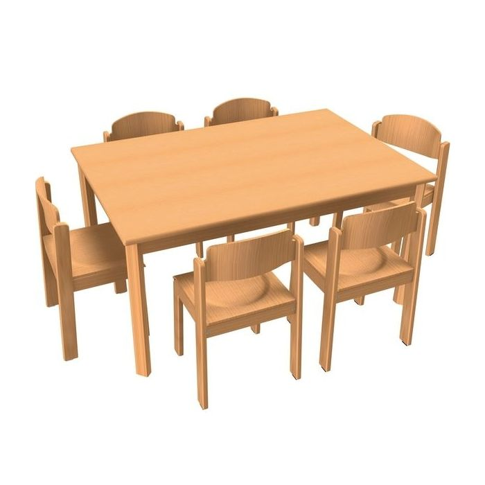 Rectangle All-Purpose Table & Chair Sets by HABA