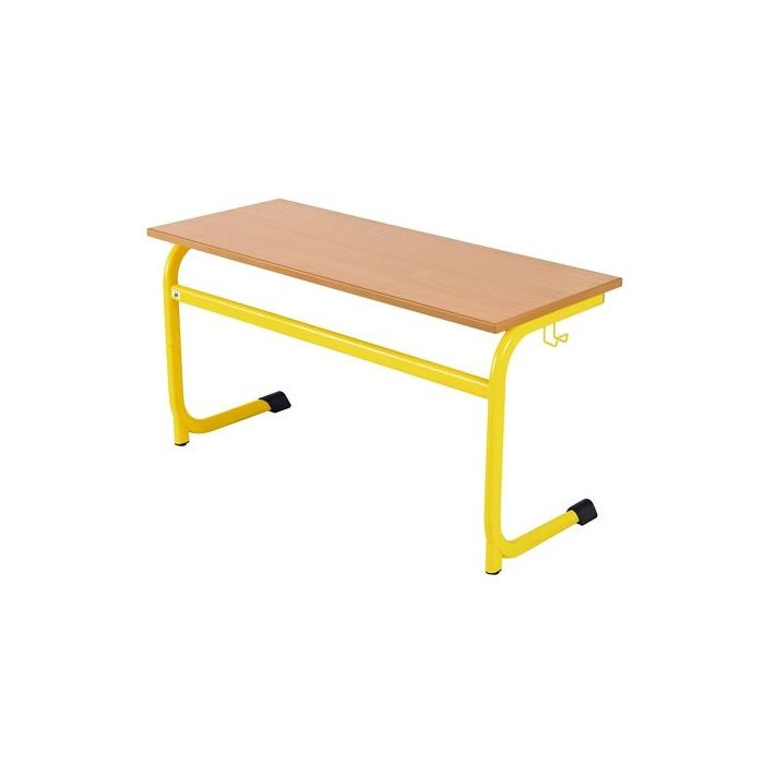Ratio Double Skid Desk without Wire Basket by HABA