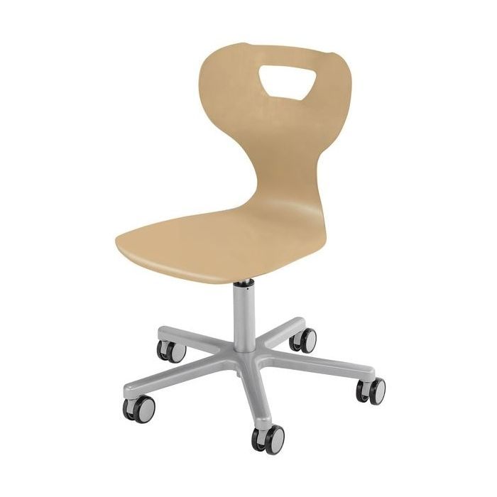 solit:sit® Height-Adjustable Wood Swivel Chairs by HABA