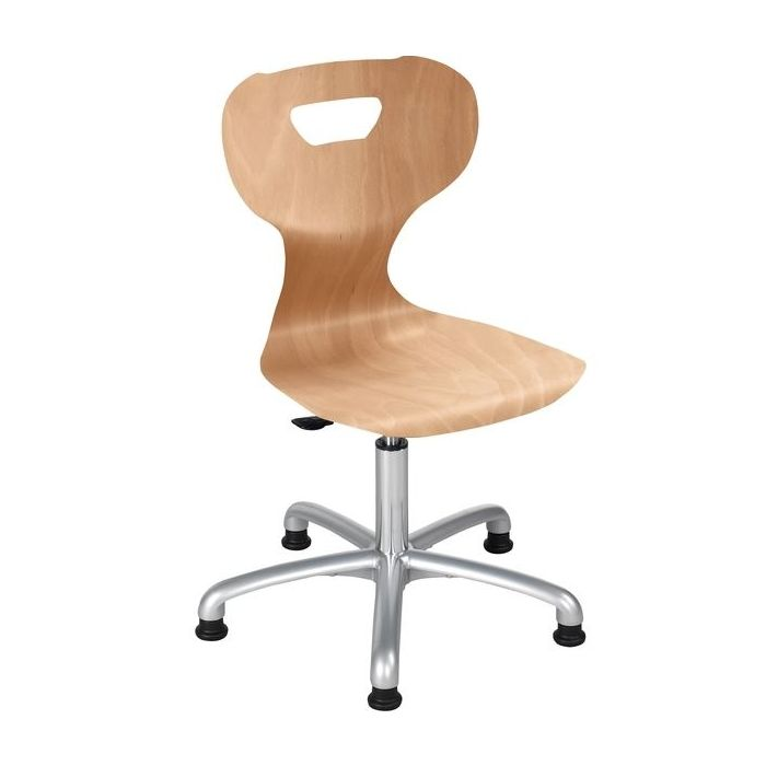 solit:sit® Height-Adjustable Wood Active Swivel Chairs by HABA