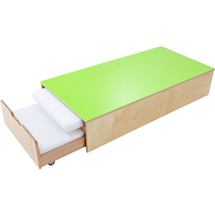 Platform with Pull-out Bed for two mattress by HABA