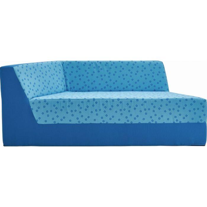 Small Trapezzio Sofa w/ 1 Armrest by HABA