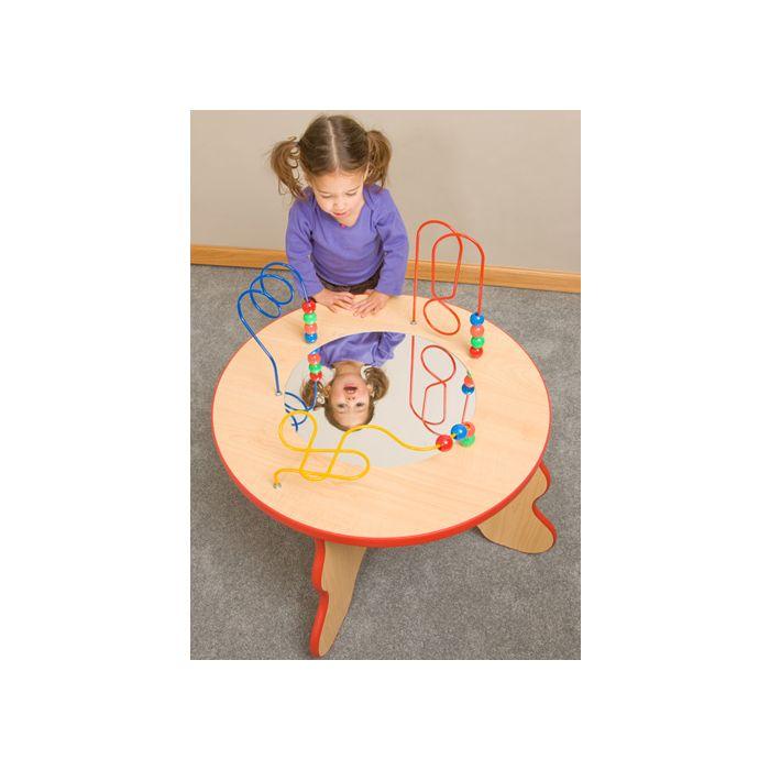 Wavy Legs Beads & Mirror Waiting Area Activity Table by Gressco