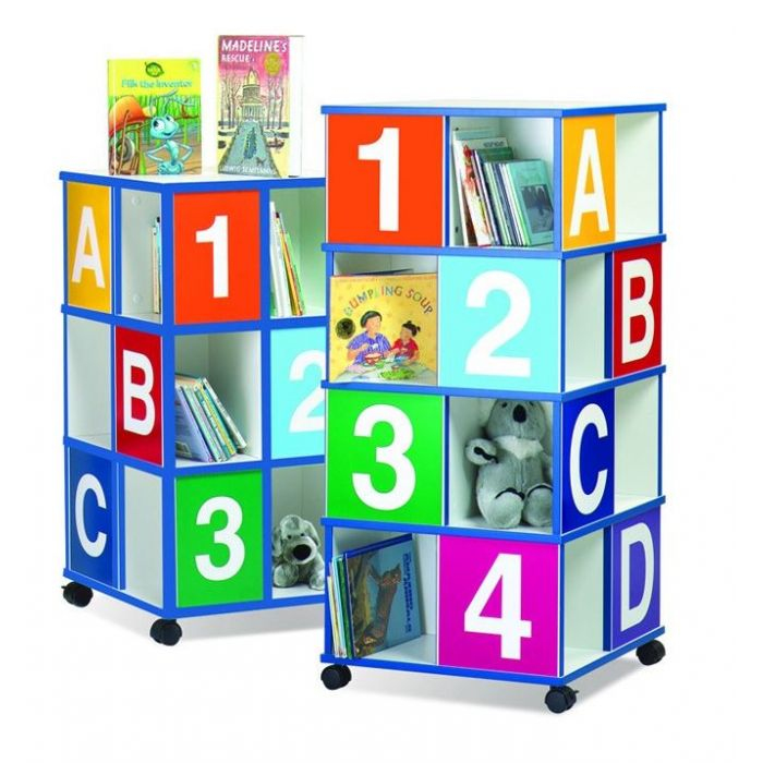 Three-Tier ABC/123 Book Display by Gressco