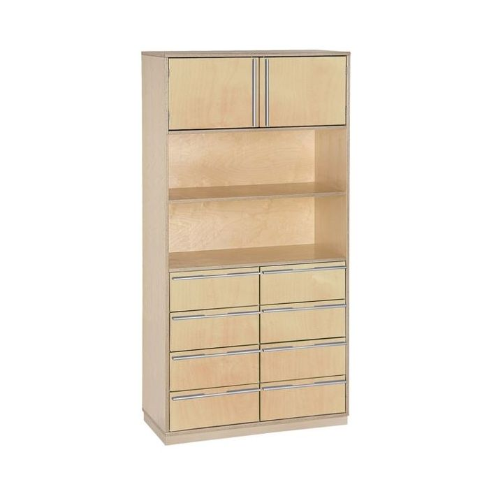 Move Upp Tall Cabinet W 2 Upper Doors 8 Drawers By Haba 431113