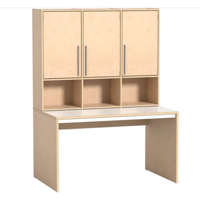 Rudolfo Cabinet w/3 Doors & Desk by HABA, 431234*