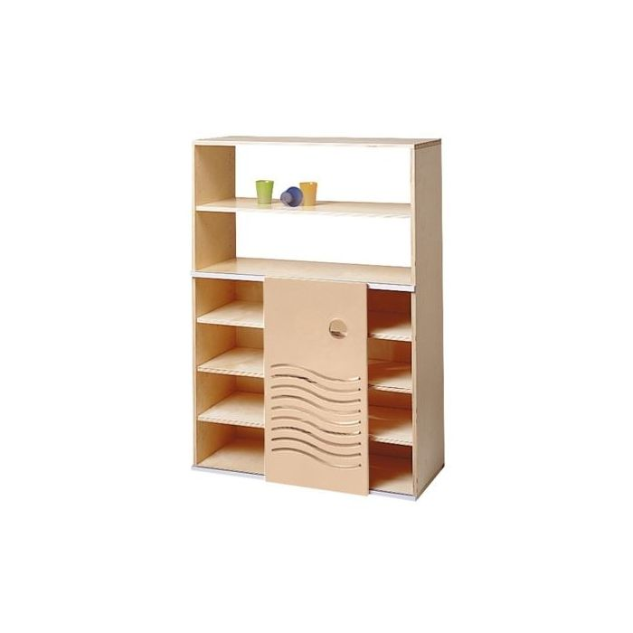 Move Upp Cabinet w/ Wave-Design Door & 5 Shelves by HABA