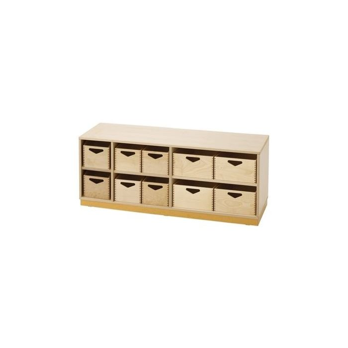 Move Upp Low Cabinet w/ 10 Supply Bins by HABA