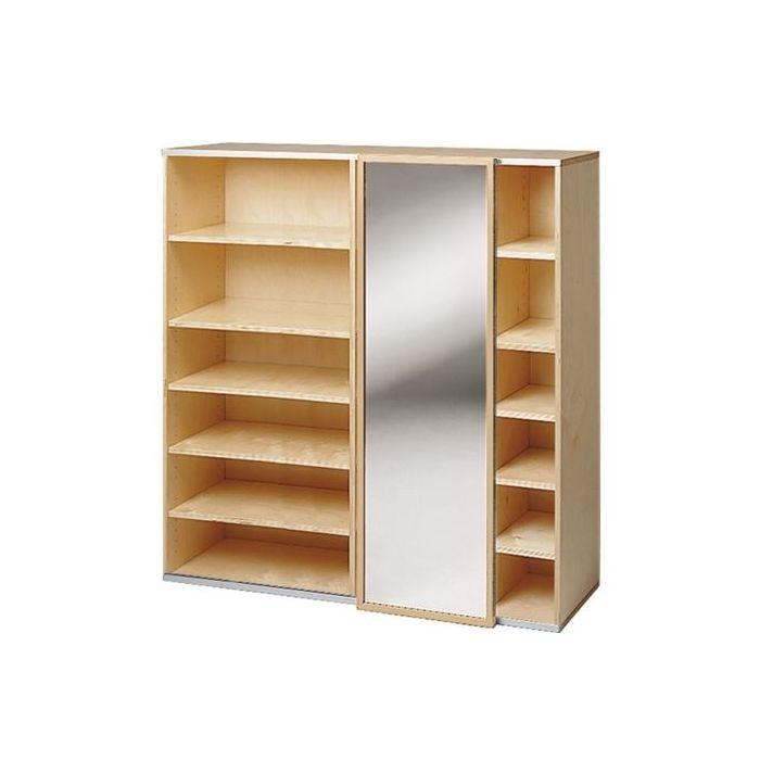 Move Upp Cabinet w/ Mirror Sliding Door & 15 Shelves by HABA