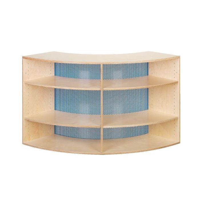 Move Upp Quadrant Cabinet w/ Perforated Metal Inside Radius by HABA
