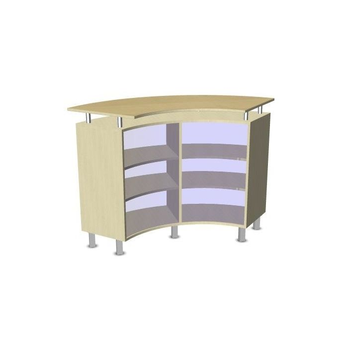 Move Upp Quadrant Cabinet w/ Counter & Acrylic Inside Radius by HABA