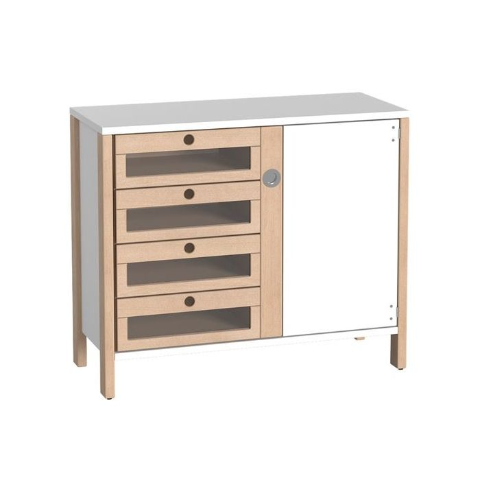 Linus Cabinet w/4 Acrylic Drawers by HABA