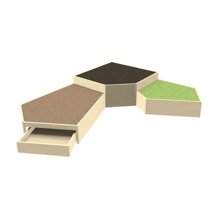 Grow.upp Tretford Carpet Platform Combination Preschool 6