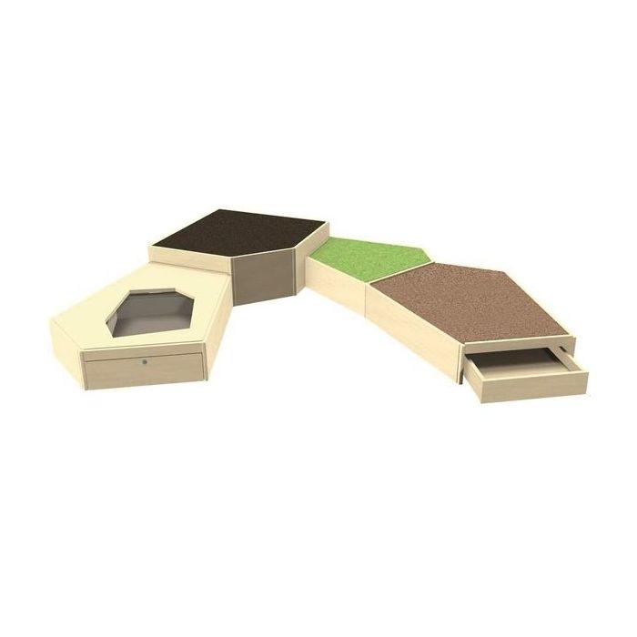 Grow.upp Tretford Carpet Platform Combination Preschool 8