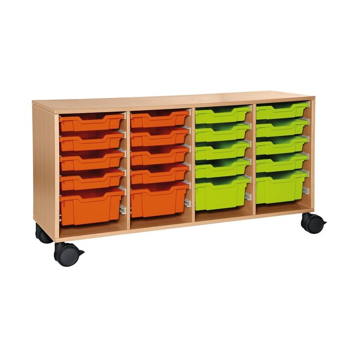 Forminant Rolling Cabinet for Material Bins 8 sets of 6 rails by HABA
