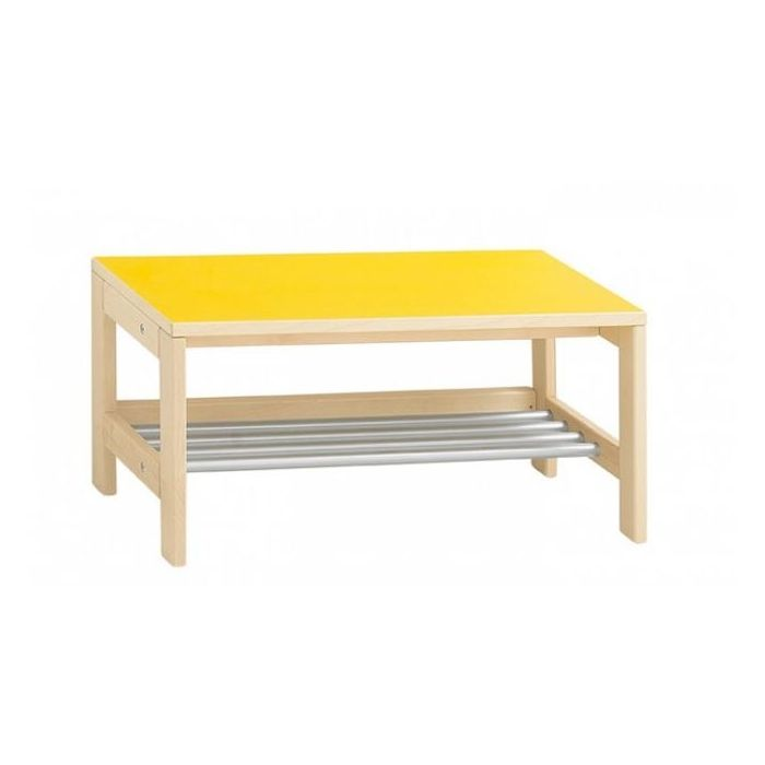 Wardrobe Benches w/ Steel Grating by HABA