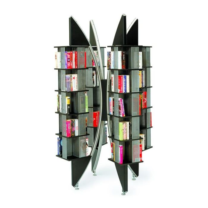 MAR-LINE® Eclipse Steel Book & Media Rotating Display by Gressco