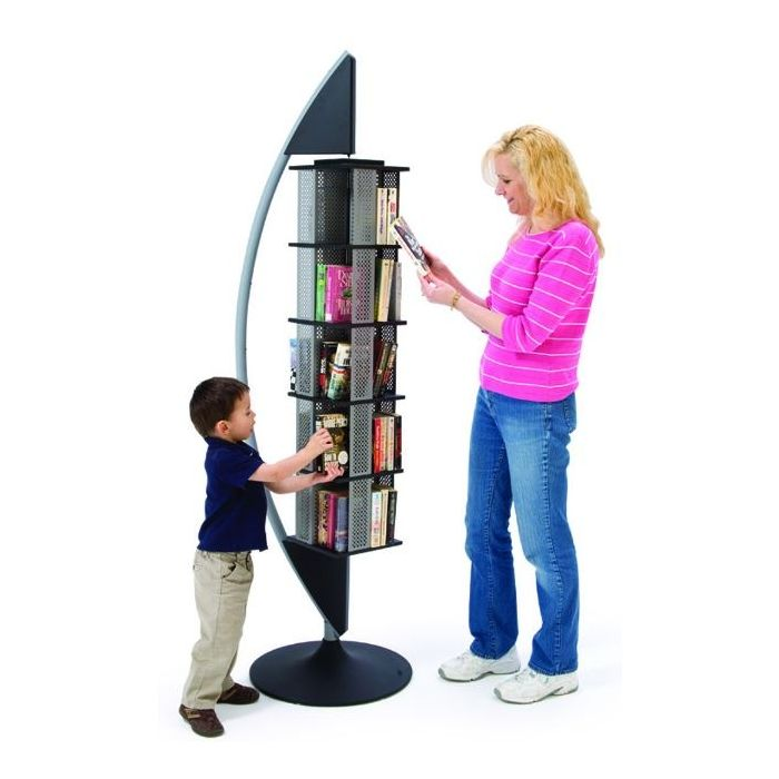 MAR-LINE® Quarter Eclipse Rotating Steel Book Display by Gressco