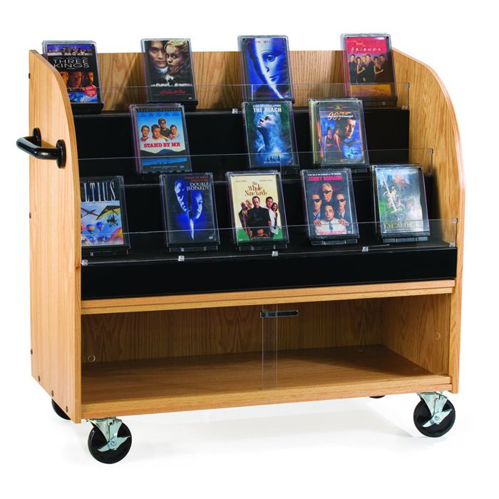 MAR-LINE® Mobile Library Book and Media Locking Cart by Gressco