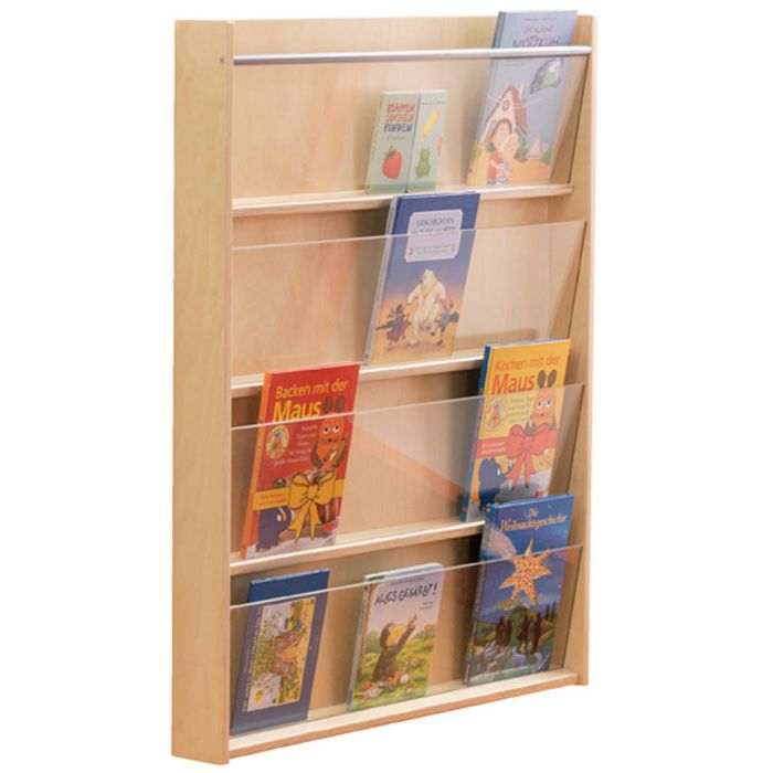 Wall Mounted Book Shelf 4 Compartment by HABA