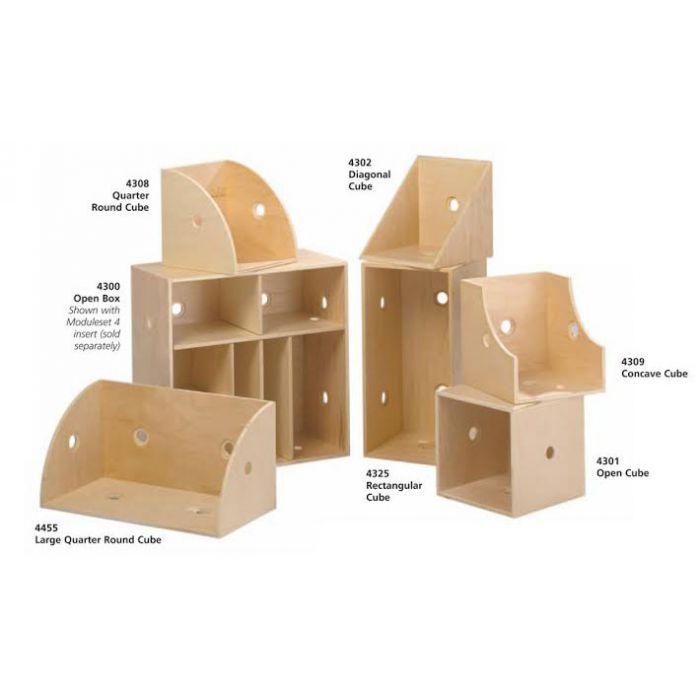 Modula S Rectangle Cube Display Box by Gressco