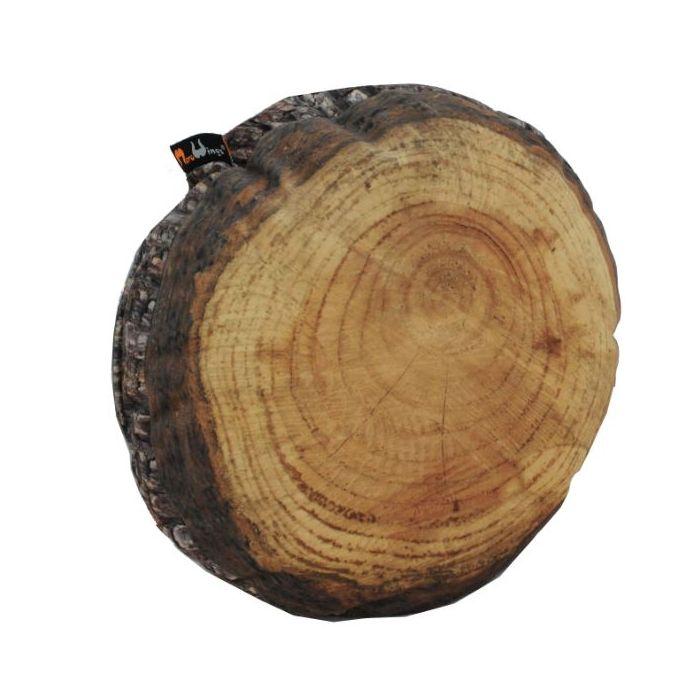 MeroWings® Annual Rings Log Slice Cushion