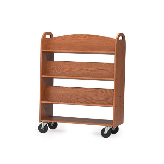 MAR-LINE® Book Truck - Six Sloping Shelves with Handles