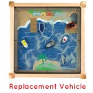 Children's Furniture Company® Replacement Vehicles for Ocean Theme Magnetic Sand Table, Y105001700