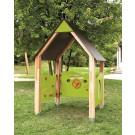 Terramo Play Pavilion with Motor Skills, Car, and Porthole Walls by HABA, 429058