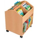 Large Birch Book Chest with 4 casters by HABA, 120954
