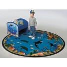 Seascapes Round Classroom Carpet, 30-CR-OSS*