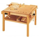 "4-Person Workbench w/Additional Shelf by HABA, 25 1/4"" H, 125610"