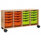 Forminant Rolling Cabinet for Material Bins 8 sets of 6 rails by HABA, 509121