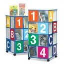 Four-Tier ABC/123 Book Display by Gressco, 39406