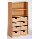 508810, 533100 Cabinet with 8 Material Boxes by HABA