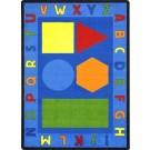Alphabet & Shapes Rectangle Classroom Carpet, 30-CR-ASH*