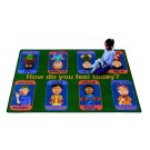 Signs of Emotions Rectangle Classroom Carpet, 30-CR-SGN*