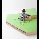 Building Platforms Carpet Corner Platform Large (B) by HABA, 846305*