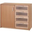 Forminant Door/Drawer door on left Cabinet by HABA, 508408*
