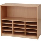 Forminant Wide Bookcase with 9 Adjustable Shelves by HABA, 508404*