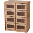 Forminant Materials Cabinet with Natural Drawers by HABA, 508317 (shown with acrylic drawers)