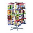 MAR-LINE® Junior 5 Tower, 4 Tier Rotor Island Book & Media Display by Gressco, 3811*