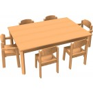 "HABA Table & Chair Set, Plastic Glides, 47 1/4"" x 31 1/2"" x 18 1/4"" H, 167949"