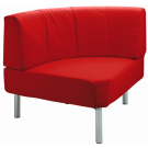"""""""Rebello"""" Round Corner, Synthetic Leather Sofa by HABA, 158424*"""