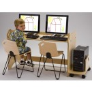 Children's Furniture Company® Double Station Height-Adjustable Computer Table, Y555*