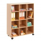 Forminant Rolling Cabinet with 2 center dividers and 9 shelves by HABA, 509124