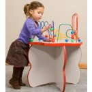 Flower Shaped Wire & Beads Activity Table, 25-WBT-002
