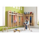 "Toddlers and Kindergarten Hanging Wall Wardrobe, 39 3/4"", 5 Compartments, by HABA, 840401*"