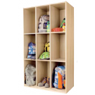 "Book Bag Cupboard, 63 1/4"", 9 Compartments, by HABA, 840303"