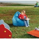 """Turquoise """"Tear Drop"""" Beanbag by HABA, 091208"""